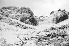 Winterlandschaft in Lofoten-Archipel stockbilder