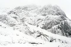 Winterlandschaft in Lofoten-Archipel lizenzfreies stockfoto