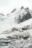 Winterlandschaft in Lofoten-Archipel stockfotografie