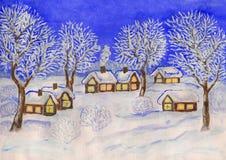 Winterlandschaft, malend Stockbilder