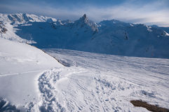 Winterlandschaft, Meribel, Frankreich Lizenzfreies Stockbild