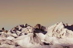 Winterlandschaft, Meribel, Frankreich Lizenzfreie Stockbilder