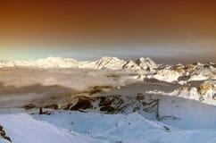 Winterlandschaft, Meribel, Frankreich Lizenzfreie Stockfotografie