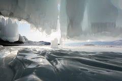 Winterlandschaft mit Eis Lizenzfreies Stockfoto