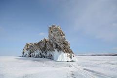 Winterlandschaft mit Eis Lizenzfreie Stockbilder