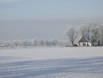 Winterlandschaft mit Reif stockfotos