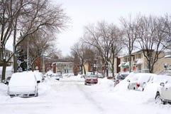 Winterlandschaft nach einem Schneesturm stockfotografie