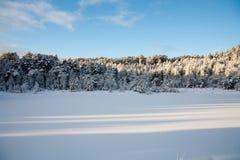Winterlandschaft in Norwegen Lizenzfreie Stockbilder