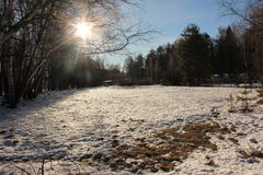 Winterlandschaft an vollem Tag 2 Lizenzfreies Stockfoto