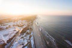 Winterlandschaft von oben Lizenzfreies Stockfoto