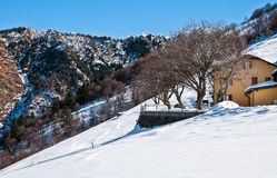 Winterlandschaft von Val Veddasca Stockfotografie