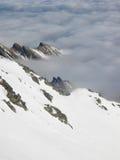Winterlandschaft während der Umstellung Lizenzfreies Stockfoto