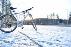 Winterlebensstil in Jyväskylä lizenzfreie stockbilder