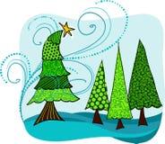 Winterliche Bäume stock abbildung