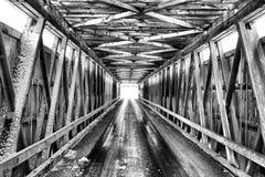 Winterliche Brücke Stockfotos