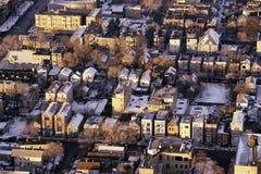 Winterliche Chicago-Vororte Stockfotografie