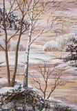 Winterliche Landschaft Stockfotografie