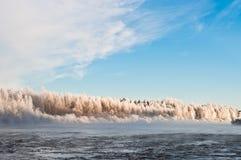 Winterliche Landschaft von Finnland Lizenzfreie Stockbilder
