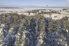 Winterliche Stadt Stockbilder