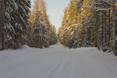 Winterliche Straße Stockbilder