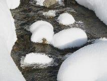 Winterlicher Strom. Stockfotos