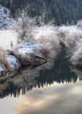 Winterliches landwirtschaftliches szenisches. Lizenzfreie Stockfotos