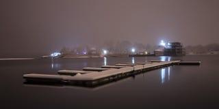 Winterliegeplatzschiff stockbild