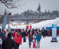 Winterlude Оттава Gatineau 2015 Стоковые Изображения RF