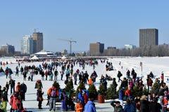 Winterlude festival in Ottawa Royalty Free Stock Image