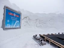 Winterlude in Gatineau, Quebec, Canada 2014 - il maschio del fiocco di neve Fotografia Stock Libera da Diritti