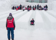 Winterlude in Gatineau, Quebec, Canada - Snow Slid Royalty Free Stock Photo