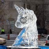 Winterlude ice sculpture Royalty Free Stock Image
