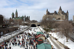 Winterlude in Ottawa Royalty Free Stock Photos