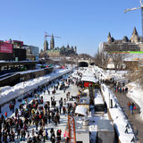Winterlude in Ottawa Stock Photography