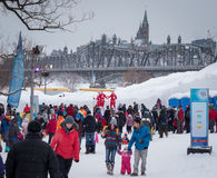 Winterlude Ottawa Gatineau 2015 Imagens de Stock Royalty Free