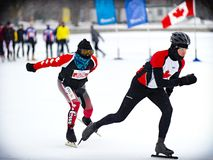 Winterlude Triathlon Stock Photo