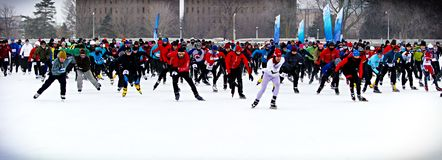 Winterlude Triathlon Stock Image