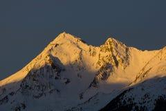 Winterly berg arkivfoto
