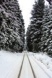 Winterly railways Stock Photo