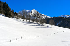 Winterly Vallée de la Manche, Morzine, France Royalty Free Stock Image