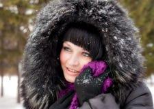 Wintermädchen lizenzfreie stockfotografie