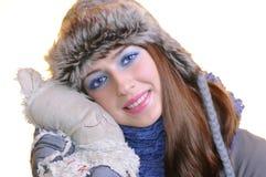 Wintermädchen. Stockfotos