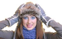 Wintermädchen. Stockfotografie