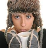 Wintermädchen. Lizenzfreie Stockfotos