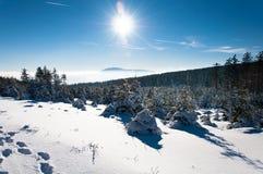 Wintermärchenland im Harz Stockfotos