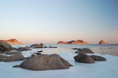 Wintermeer coast-3 Stockfoto