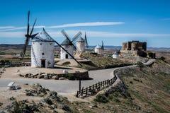 Wintermills di Consuegra Fotografie Stock Libere da Diritti