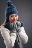 Wintermode Stockfoto
