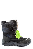Wintermode men& x27; s-Stiefel auf weißem Hintergrund Lizenzfreies Stockfoto