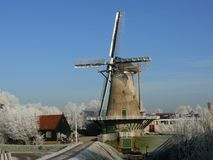 Wintermolen Royalty Free Stock Photo
